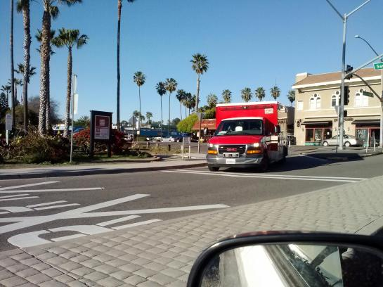 Passed by red ambulance 2/16/13.