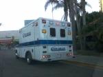 12/25/13 @ 402 pm- Private ambulance parked at destination- Starbucks UTC La Jolla, CA.